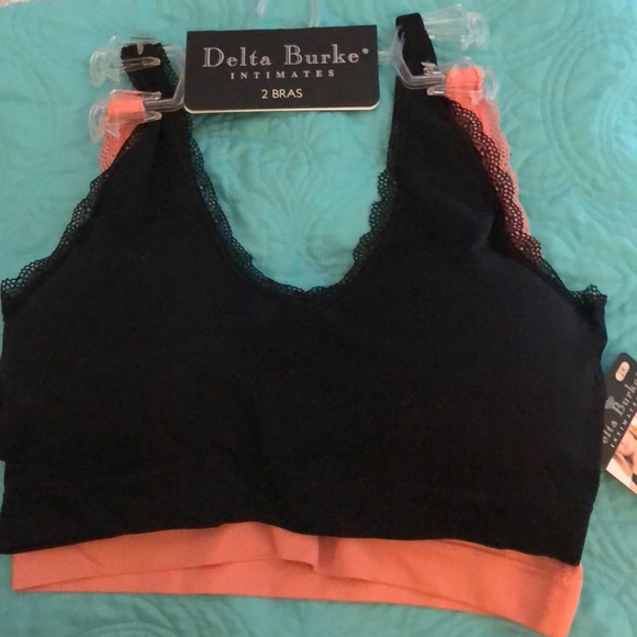 34126551997 NWT Delta Burke 2 Pack Plus Size seamless bras